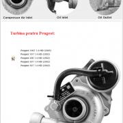 Turbosuflanta Peugeot 1.4 68 cp